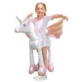 Rijdend op eenhoorn kostuum unisex kinderen
