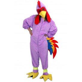 Kip kostuum paars kinderen unisex one size