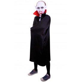 Dracula cape zwart/rood kinderen