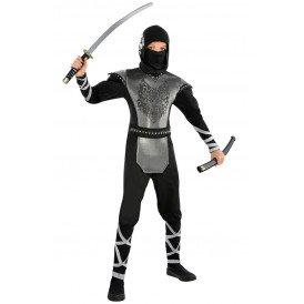 Ninja zwart/zilver kinderen
