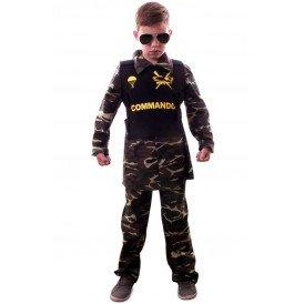 Commando camouflage kostuum jongens