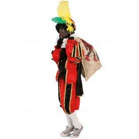 Piet kostuum zwart/rood unisex kinderen
