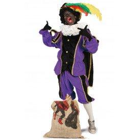 Piet kostuum zwart/paars unisex kinderen