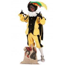 Piet kostuum zwart/geel unisex kinderen