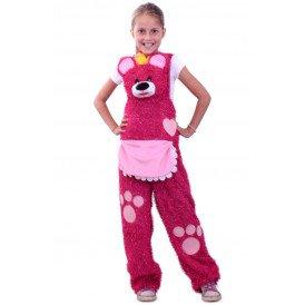 Knuffelbroek teddybeer roze unisex kinderen