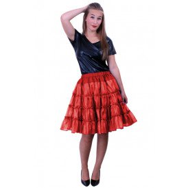 Petticoat 5-laags rood dames