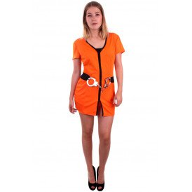 Gevangenis kostuum oranje dames