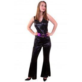 Catsuit glitter disco dames