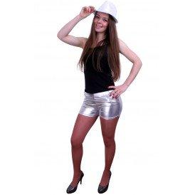 Hotpants metallic zilver dames