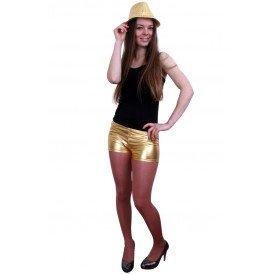 Hotpants metallic goud dames