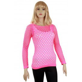 Visnet trui pink dames