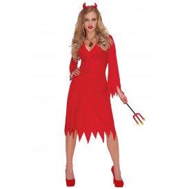 Duivel jurk rood