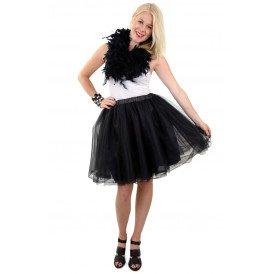Tule rok deluxe zwart