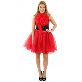 Tule rok deluxe rood