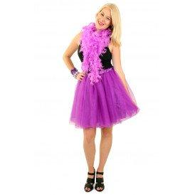 Tule rok paars dames one size