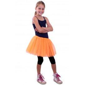 Tule rokje kinderen oranje one size