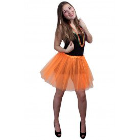 Tule rokje volwassenen oranje one size