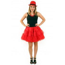 Petticoat rood 3-laags volwassenen