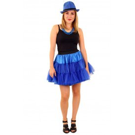Petticoat blauw 3-laags dames one size