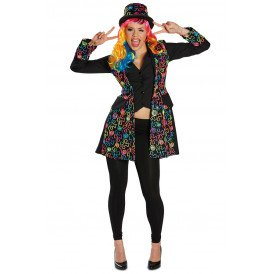 Jas multicolour bloemen patroon dames
