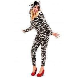 Zebra kostuum dames