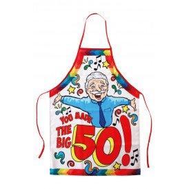 Keukenschort Abraham you made the big 50