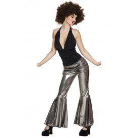 Flare pants  stretch zilver dames