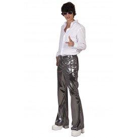 Disco broek zilver heren