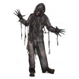 Verbrande zombie kostuum heren one size