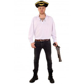 Piraten/tiroler blouse wit