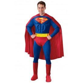 Gespierde Superman kostuum (licentie) heren