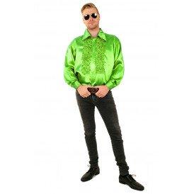 Ruches blouse fluor groen