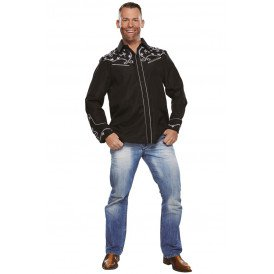 Country blouse zwart