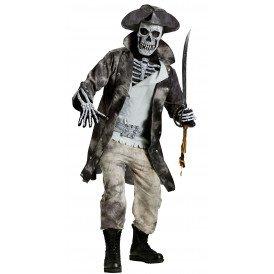 Skelet piraat kostuum heren one size