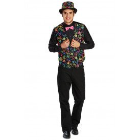 Gilet bloemen patroon multicolour heren