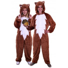 Eekhoorn kostuum bruin unisex