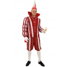 Prins Carnaval rood/wit deluxe