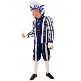 Prins Carnaval blauw/wit deluxe