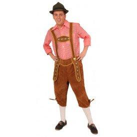 Tiroler-broek licht bruin lang mode