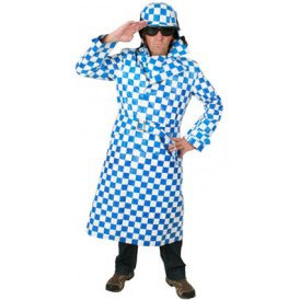 Motorcoat blauw/wit heren