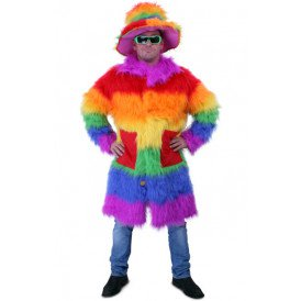 Rainbow colour pimpcoat plush luxe