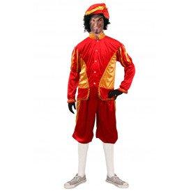 Piet kostuum rood/goud unisex