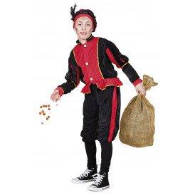 Piet kostuum rood/zwart unisex kinderen