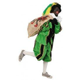 Piet plushe zwart/groen