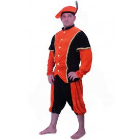 Piet kostuum oranje/zwart unisex