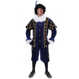 Piet kostuum Amigo blauw/zwart unisex