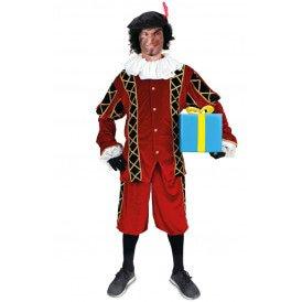 Piet kostuum Pedro rood/zwart unisex