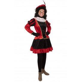 Piet jurkje met petticoat rood