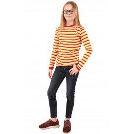 Dorustrui rood/wit/geel lange mouw unisex kinderen