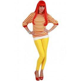Dorustrui rood/wit/geel lange mouw unisex